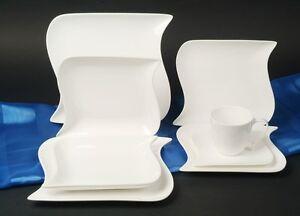 ocean weiss kombi service 12 personen 98tlg porzellan. Black Bedroom Furniture Sets. Home Design Ideas