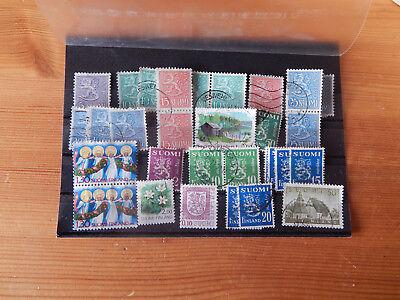 Finnland Finnland Suomi Briefmarken Lot,zusammendrucke Belebende Durchblutung Und Schmerzen Stoppen