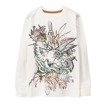 NWT Gymboree Tricera-Top Dinosaur Dino Sketch Long Sleeves Tees Shirt Boy 10 12