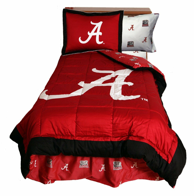 Alabama Crimson Tide 3 Pc FULL Dimensione Reversible Comforter Set (Comforter 2 Shams)
