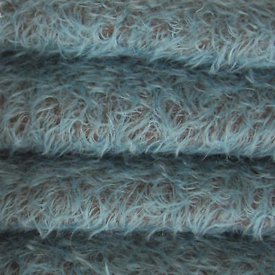 "1//4 yd 325S//CM Black INTERCAL 5//8/"" Semi-Sparse Curly Matted Mohair Fur Fabric"