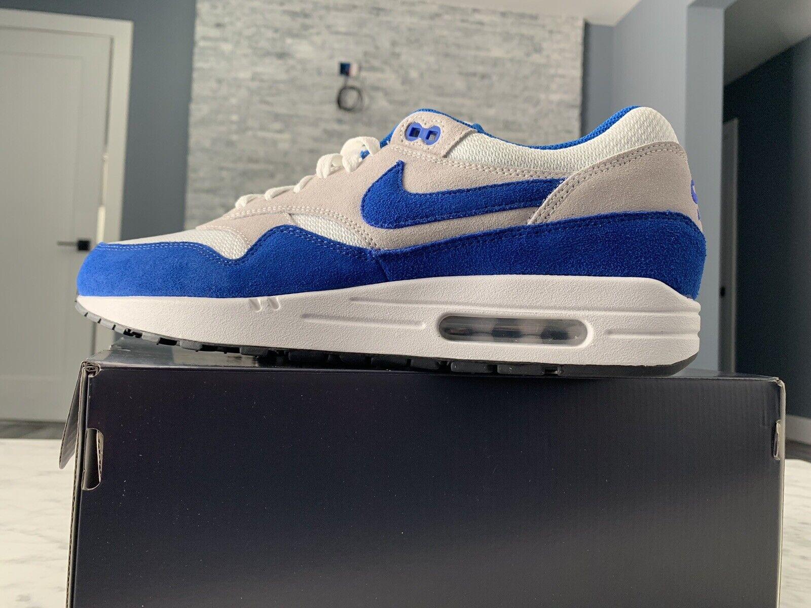 NIKE AIR MAX 1 ID WHITE SPORT bluee GREY BLACK Size 11 Nike ID
