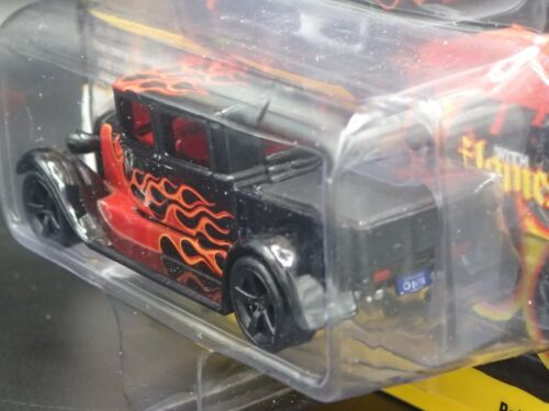 2020 JOHNNY LIGHTNING 1929 FORD CREW CAB TRUCK BLACK WITH FLAMES V A REL 3 NO 2