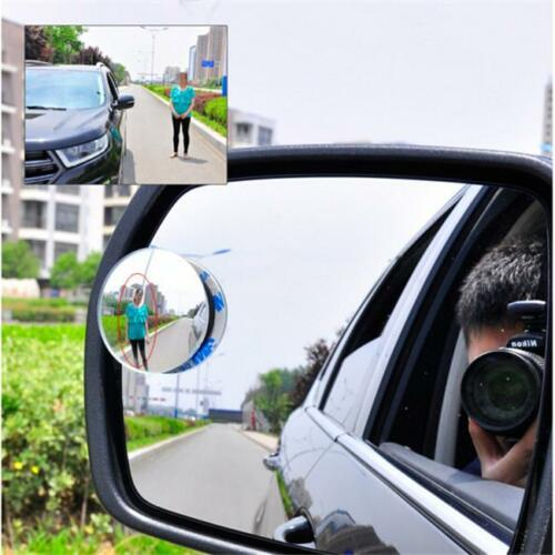 1//2Pcs Round Stick-On Convex Rearview Blind Spot Mirror For Car New N7