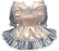 alice Custom Fit Satin Adult Lg Baby Sissy Dress & Pinafore Leanne