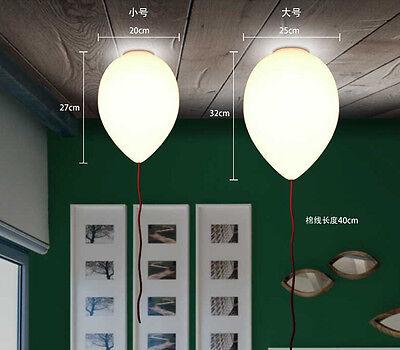 Design Ballon Pulling DIY White Glass Ceiling Lamp Light Home Cafe Lighting Kid