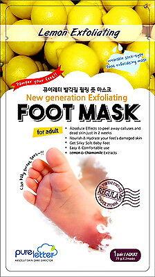 Pureletter Exfoliating Exfoliator Foot Peeling Skin Care Mask Lemon & Chamomile