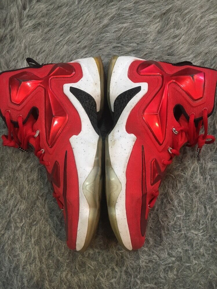 get cheap 7f308 043cb ... Nike Men s Lebron XIII Basketball Shoes 807219 807219 807219 610 Red White Black  Size ...