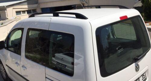 Dachträger Schwarz VW Caddy 2004-2010 Aluminium Dachreling