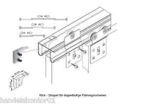 für Garagensektionaltor obere Schienenabhängung Doppellaufschiene