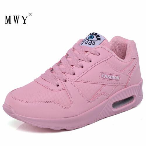 Zapatos Casuales De Plataforma Para Mujeres Zapatillas Deportivos De Cuero Moda