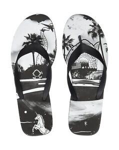2bd460e36c5 Reebok Men`s Cash summer beach Flip Flops Black White BS8549