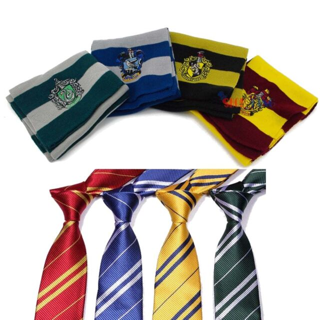 HOGWARTS Gryffindor/Slytherin/Ravenclaw/Hufflepuff Costume Scarf Tie Gift