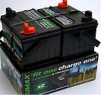 Electric Fence Batteries | Twin Pack | Fit One- Charge One + Automatic Charger