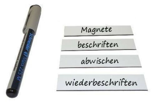 100 pièces Etiquette magnétique effaçable 2 cm x 8 cm