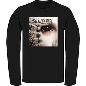 SEETHER Logo Men/'s Black Long Sleeve T-Shirt Size S M L XL 2XL 3XL