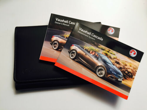 VAUXHALL CASCADA Convertible Owners handbook Manual Pack New Genuine