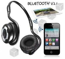 Wireless Bluetooth Stereo Kopfhörer Headset für iPhone 6 5S Samsung HTC LG Handy