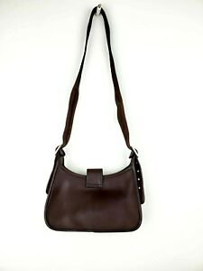 COACH-brown-leather-purse-AIGNER-style-side-good-quality