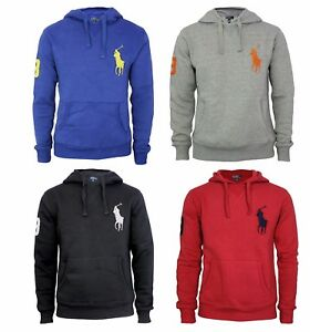 85c92edd Polo Ralph Lauren New Mens Big Pony Hoodie Pullover Sweatshirt S M L ...