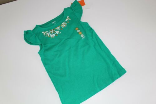 Gymboree The Green Scene Girls Size 6 Shirt Top Gold Floral NWT NEW