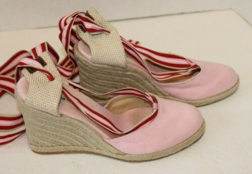 Tommy Hilfiger Womens 7M Pink Canvas Espadrille S… - image 1