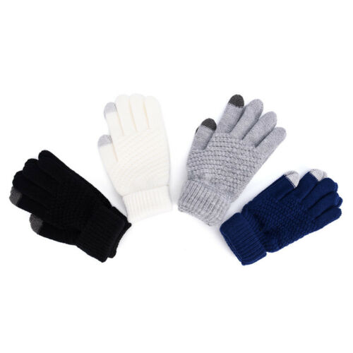 Knitted Winter  Warm Wool Gloves Touch Screen Gloves Man Women Winter;