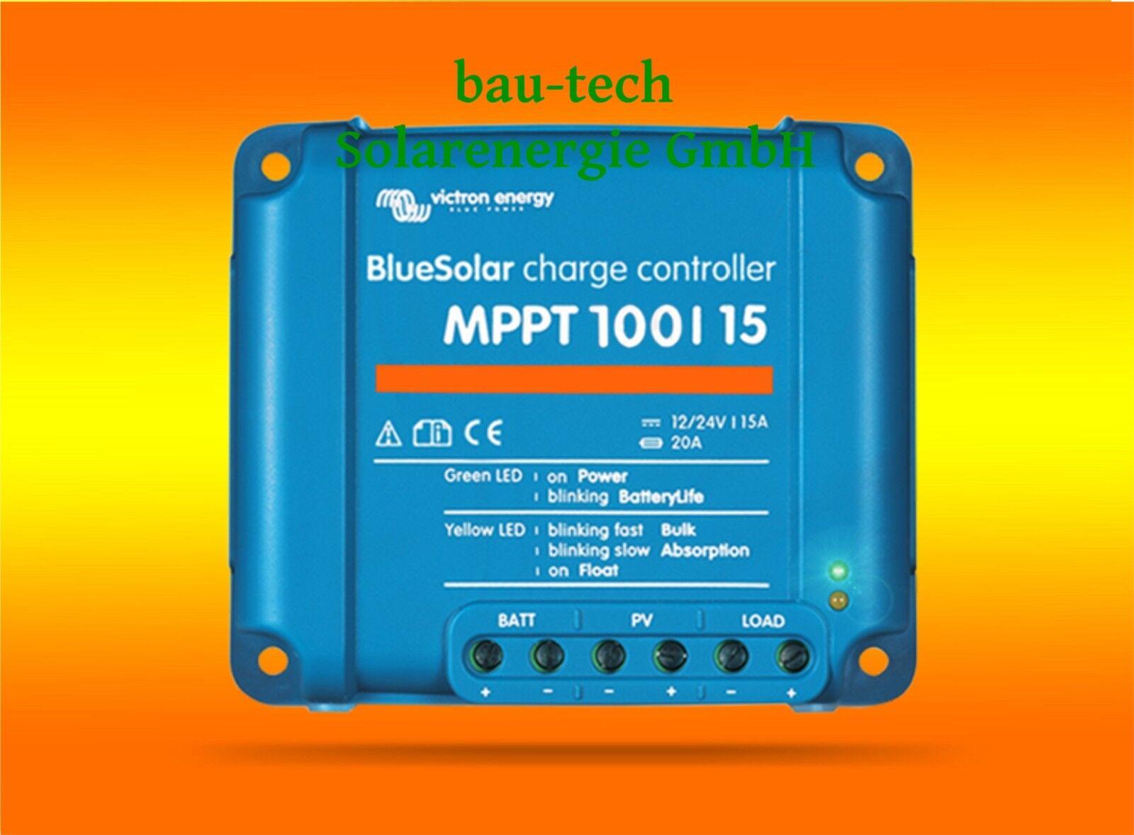 VICTRON Laderegler Energy BlauSolar MPPT 100 15 für 12V   24V