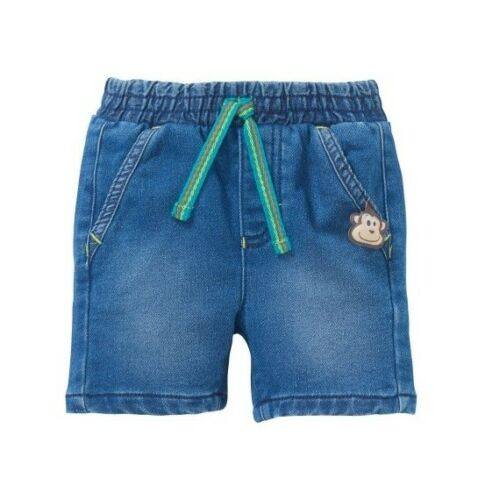 74 Gr Neu Ergee Baby Jungen Sweat Jeans Shorts kurze Hose Stretch 68 86