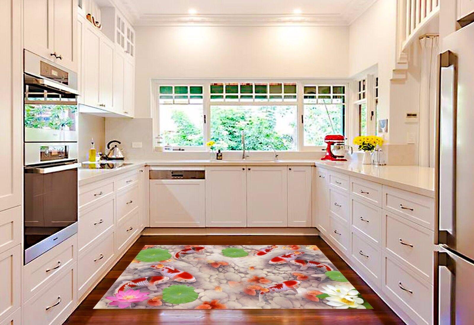 3D Koi Stone 754  Kitchen Mat Floor Murals Wall Print Wall AJ WALLPAPER AU Carly