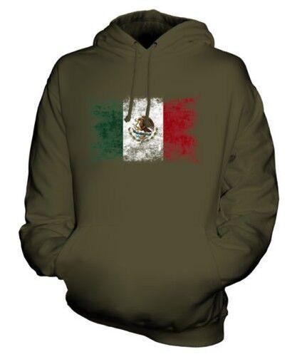Mexiko Distressed Flagge Unisex Kapuzenpulli Top Mexikanisch Mexihco Fußball