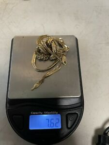 Marked 14k /tests 18k- Gold Scrap Jewelry - 7.62g