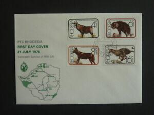 Fdc Rhodésie-zimbabwe 21. Juillet 1976