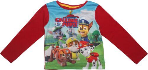 Paw PATROL Ragazzi chiamando tutti i cuccioli manica corta T Shirt