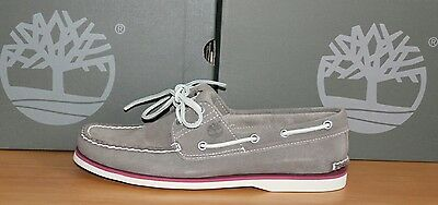 Timberland 2 eye Boat/Deck Grey Suede Shoes RRP £110
