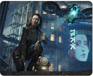 Cyberpunk Manhunt Science Fiction Art Mousepad