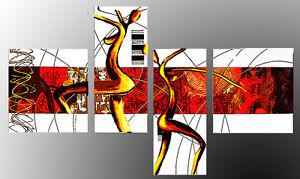 Quadri moderni astratti dipinti a mano olio su tela donne for Quadri moderni astratti su tela