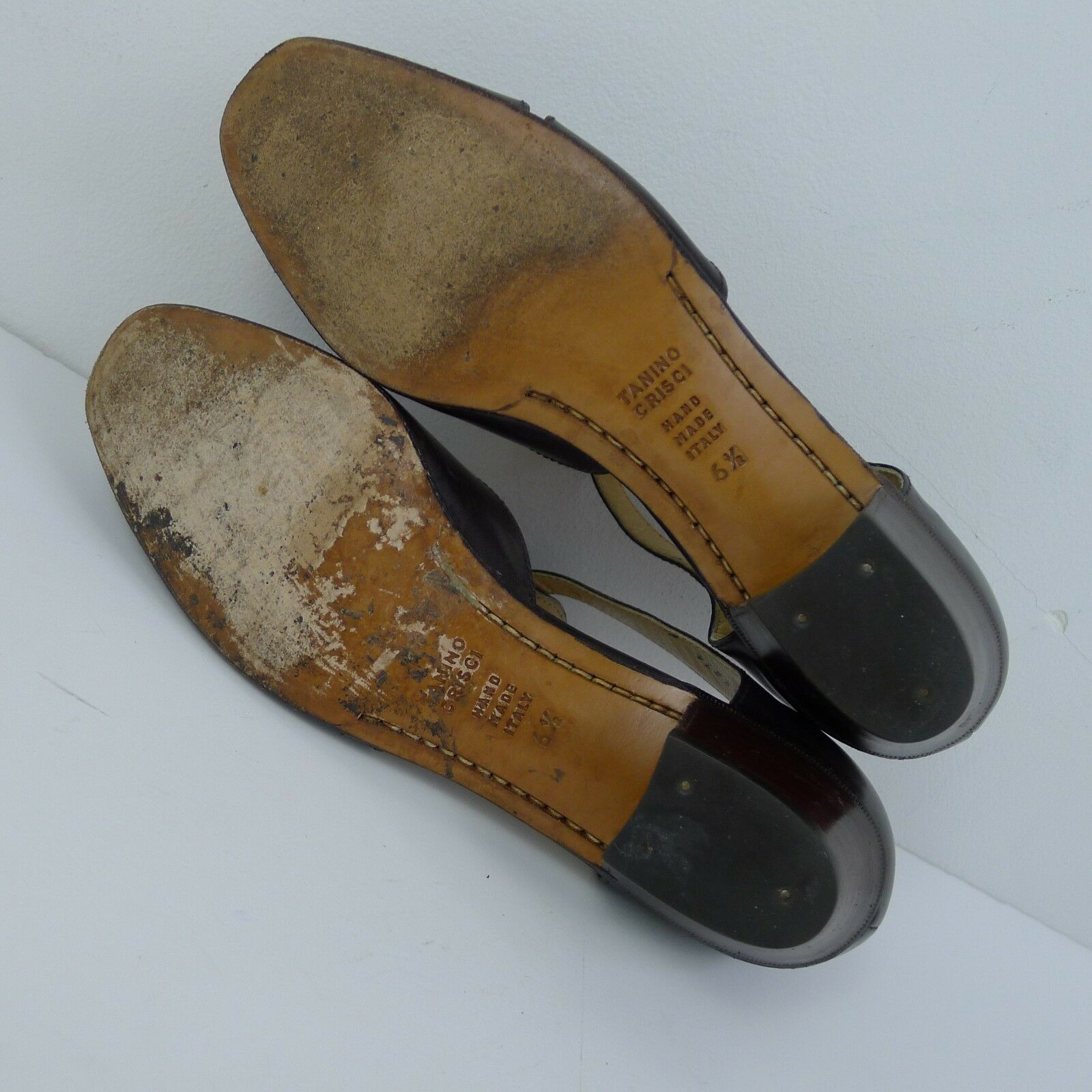 Vintage Tanino Crisci Crisci Crisci Donna  Low Heels Leather Sandals Made in  US 6.5 85f97b