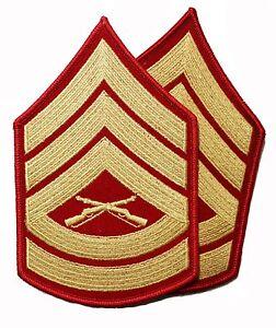 usmc marine corps gunnery sergeant gunny gysgt e7rank chevrons ebay