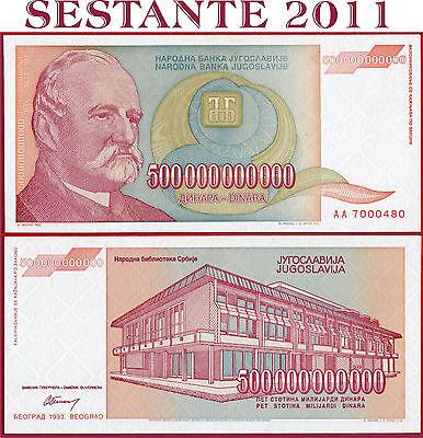 Yugoslavia 500 BILLION 500000000000 Dinara 1993 P137 AUNC About Uncirculated