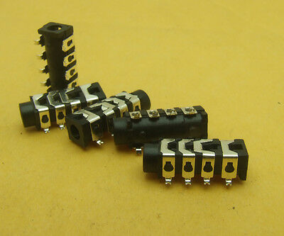 50PCS 4-Pin SMD  3.5mm stereo jacksocket for camera Headphone Microphone iphone