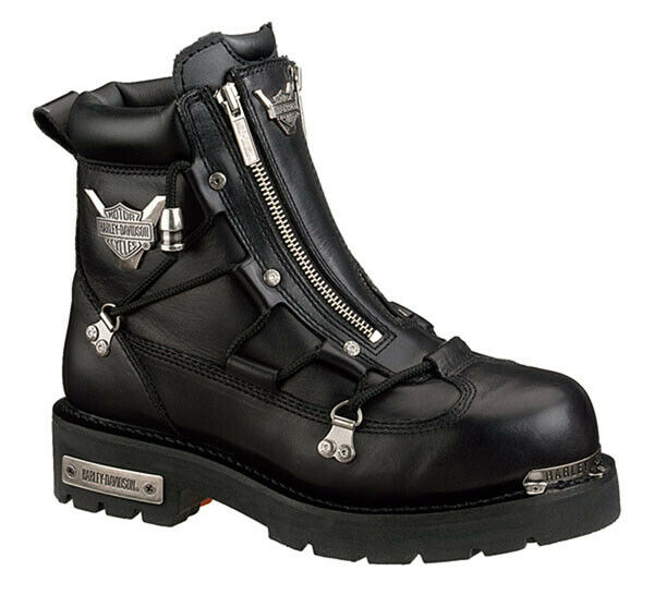 a68c34818c41 Harley Davidson Brake Light Men s Black BOOTS Size 10 D91680 Double ZIPPER  for sale online
