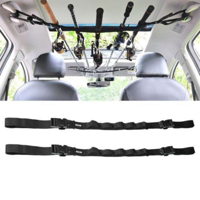 Fishing Rod Saver Vehicle Rod Carrier Band Rod Holder Belt Strap New