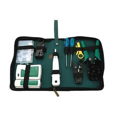 Network Ethernet LAN Kit RJ45 Cat5e Cat6 Cable Tester Crimper Repair Tool Set