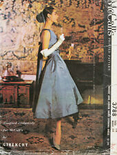 Vintage 50's McCALL'S GIVENCHY 3788 WEDDING EVENING Dress Sewing Pattern  B34
