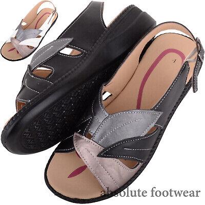 Romantisch Ladies / Womens Lightweight Low Wedge Summer / Holiday Sandal / Shoes Chinesische Aromen Besitzen