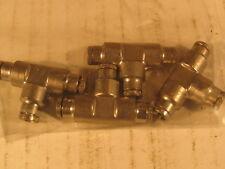 "4   Stainless Steel PresLok Tee fittings Tube size 4M- 5/32"""""