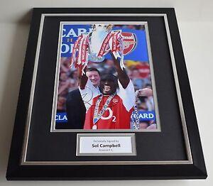 Sol Campbell SIGNED FRAMED Photo Autograph 16x12 display Arsenal Football  COA - Warrington, United Kingdom - Sol Campbell SIGNED FRAMED Photo Autograph 16x12 display Arsenal Football  COA - Warrington, United Kingdom