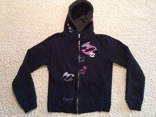 Billabong Girls Zip Front Hoodie Jacket * Large 14-16 * Black * VGC *