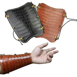 Traditional Archery Arm Guard Leather Protector Gear Recurve Bow Hunting Target
